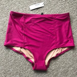 Hot pink high waisted jcrew swim suit bottoms